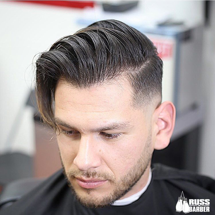 russ_thebarber_and high fade with long hair