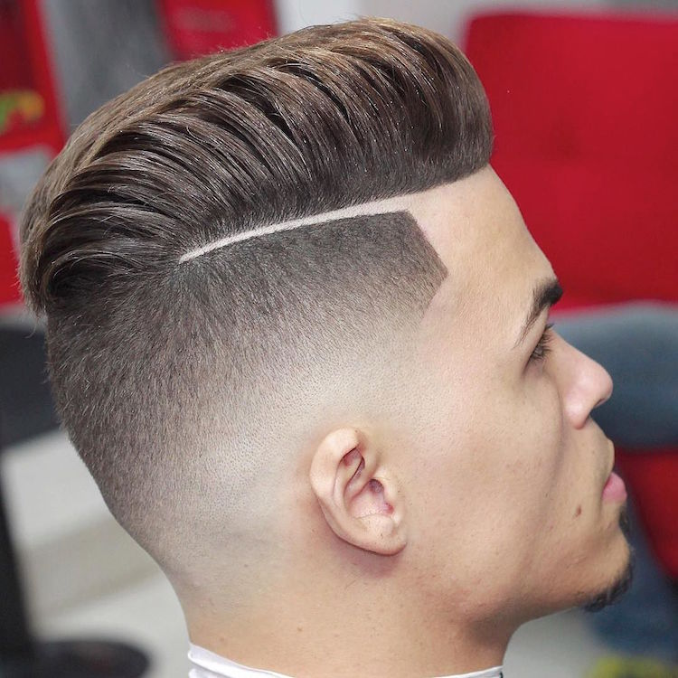 Skin Fade Haircut With Line Hairs Picture Gallery