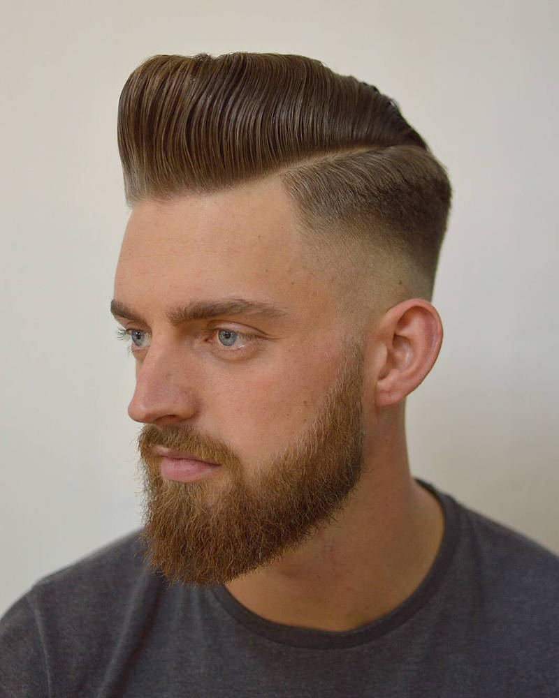 barber_djirlauw_and classic skinfade sidepart pompadour