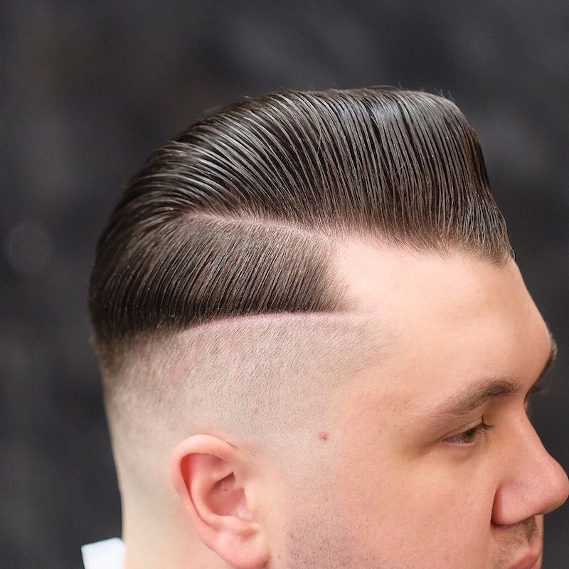 barbersdream_and_double hard part slicked sidepart pomp