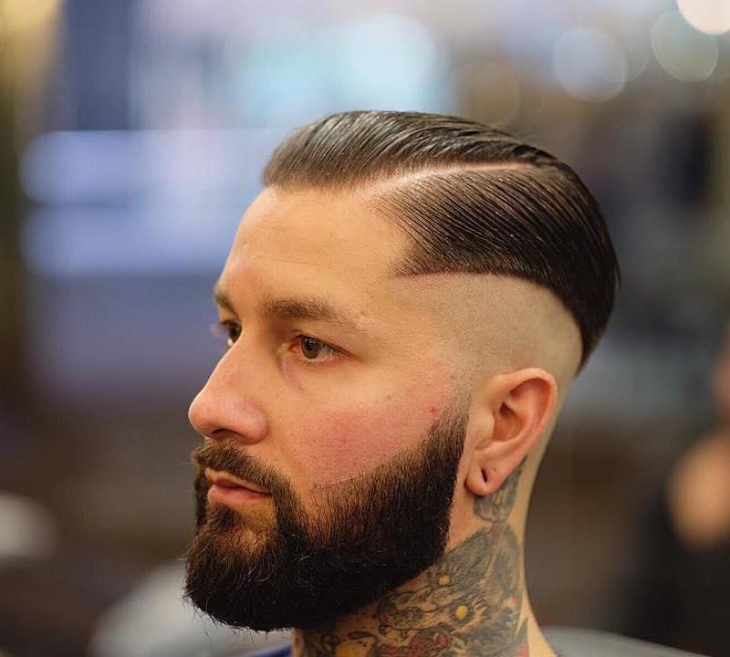 Hard Part Haircut with Short Hair
