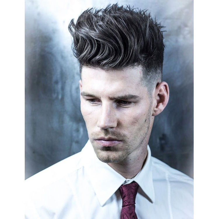 Tall Textured Quiff. Braidbarbers_and_Tall_textured_quiff