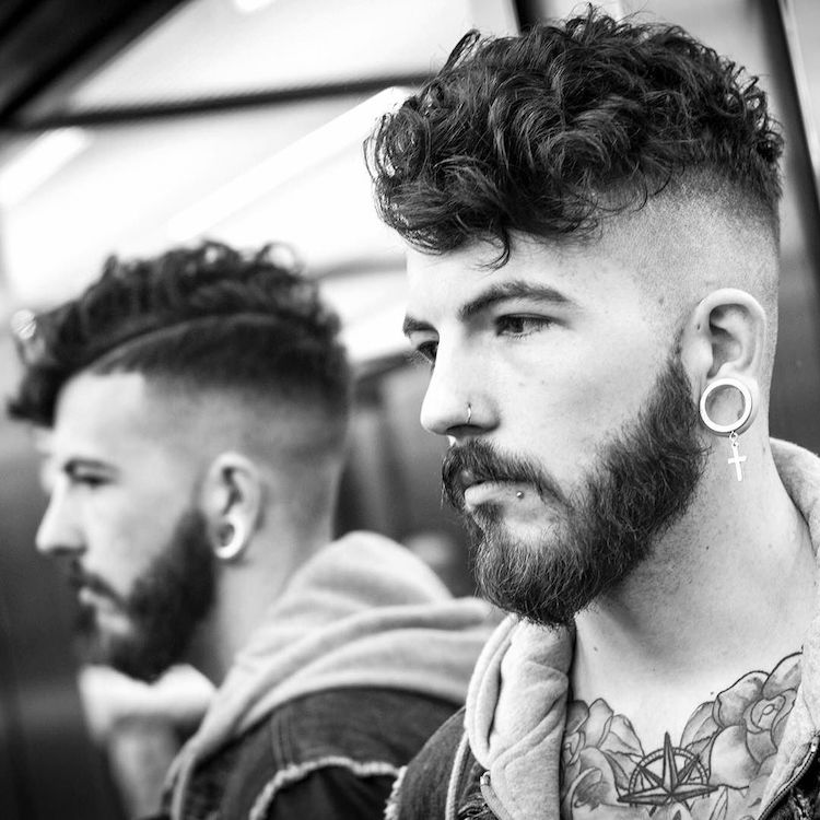 Braidbarbers And Curly Hair Disconnected Undercut Haircut By Braid Barbers