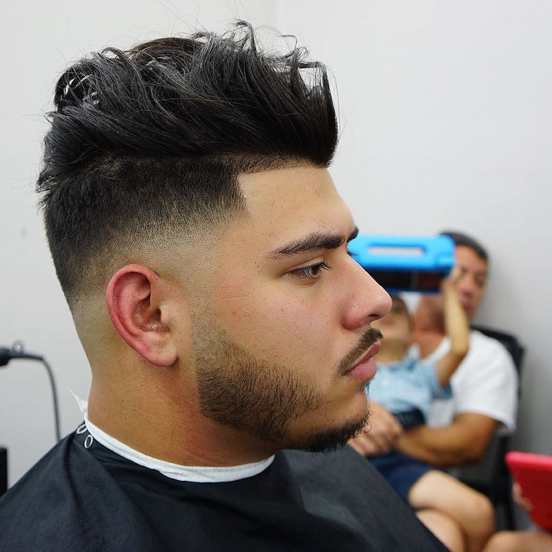 Drop Fade Haircut With Waves | blackhairstylecuts.com