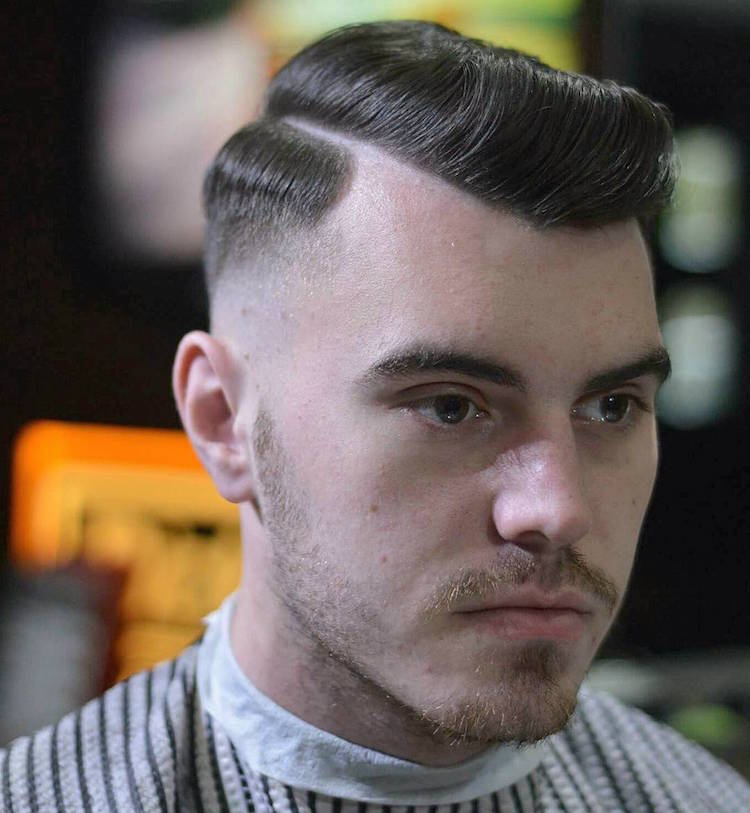 hardgrind_aberdeen_and skin fade hard part classic mens haircut