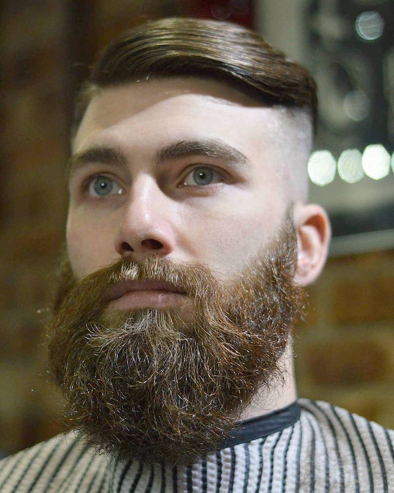 hardgrind_aberdeen_and_Skin fade with disconnected top beard