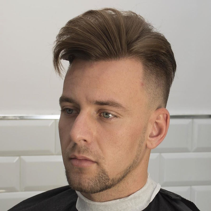 javi_thebarber__and dry loose pompadour