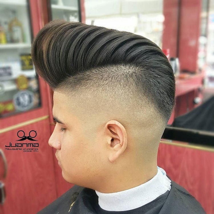 juanmapeluka_and high fade big pompadour