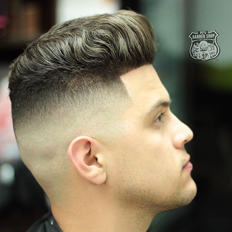 pjabreu_and high fade thick hair pompadour