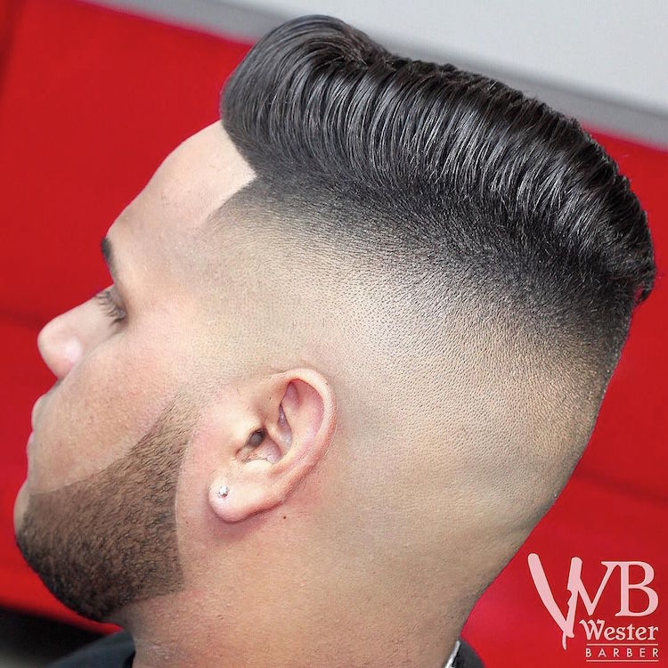 wester_barber classic combover skin fade