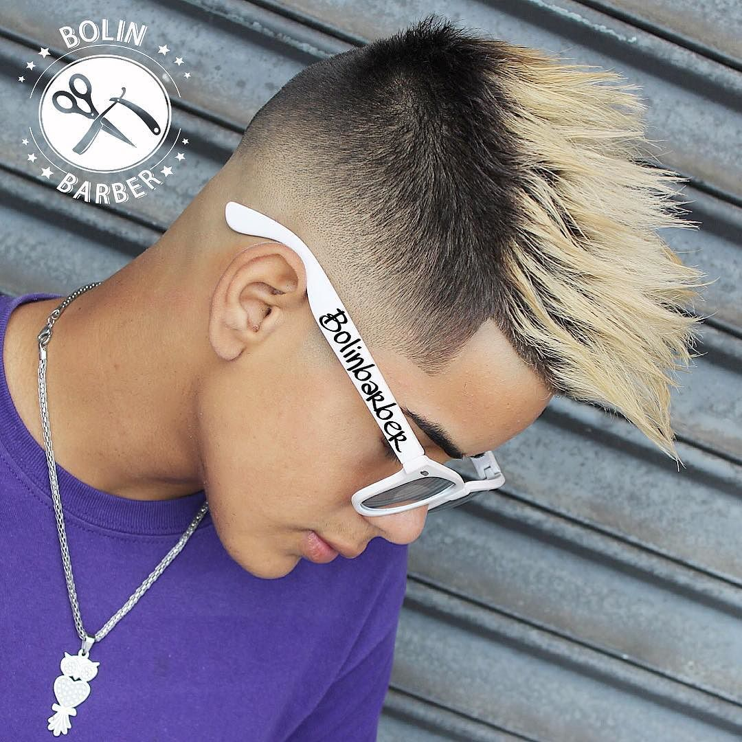 bolinbarber_and clean fade and textured colored hair
