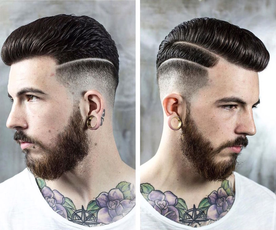 Hairstyle Parts : braidbarbers_and cool hi lo fade with fine double hard parts