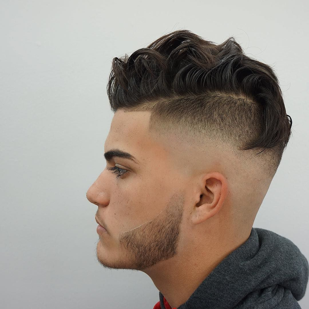 bald fade undercut medium hair
