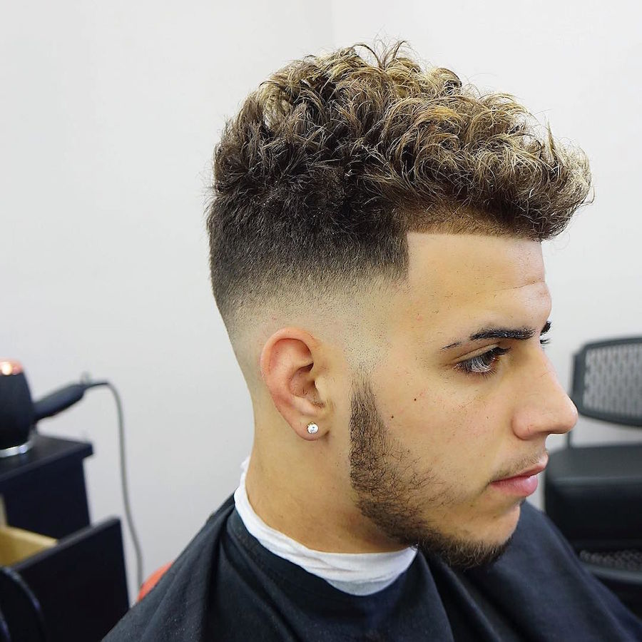 25 hottest hairstyles for men high fade curly haircit