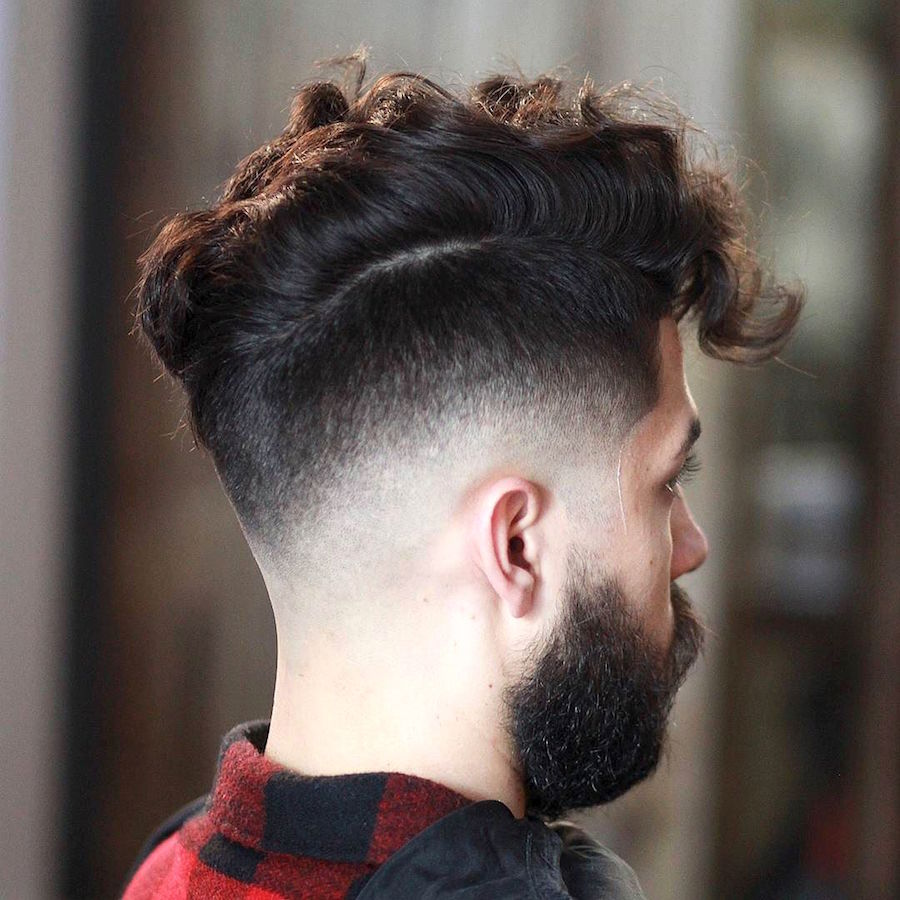 evan_thebarber_and clean drop fade and curly messy hair