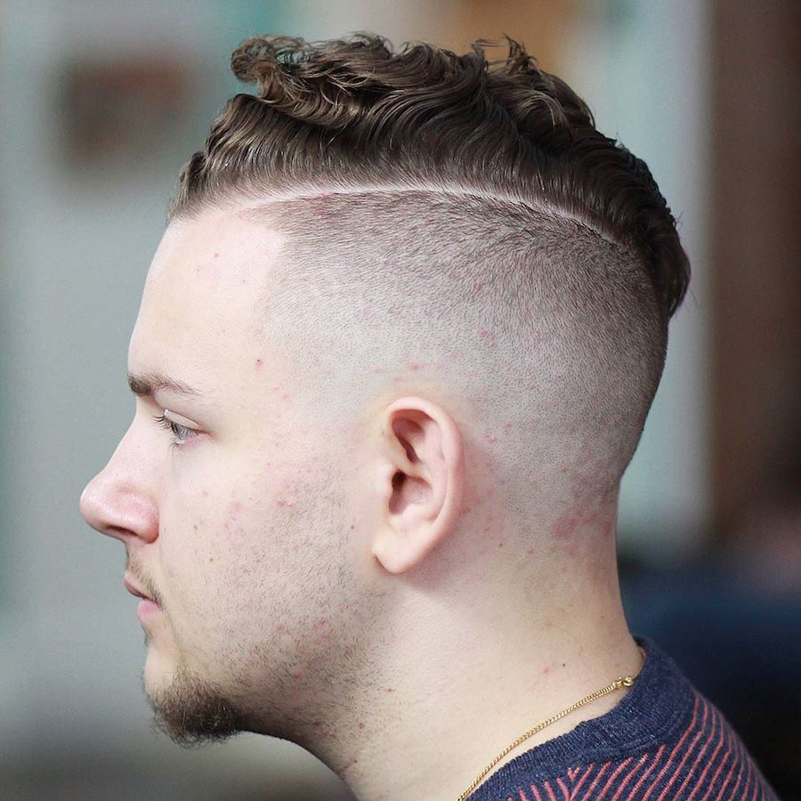 evan_thebarber_and combover curls and high skin fade