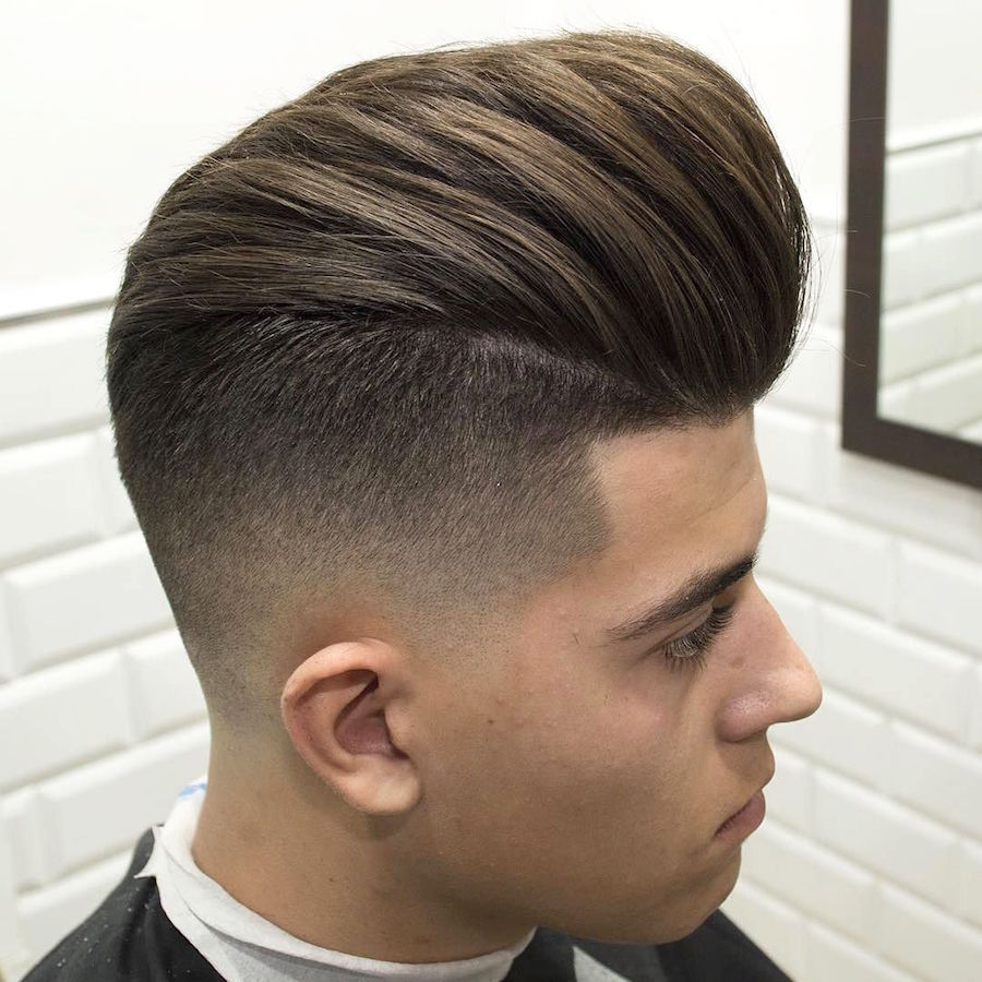 High Fade + Big Pompadour