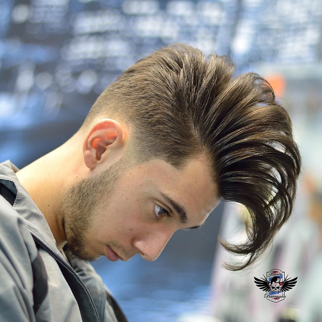 huge pompadour classic men's hairstyle