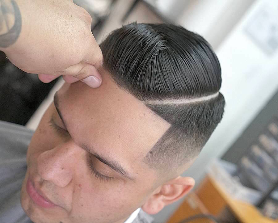 monster_eddiejr_and short haircut for men with hard part