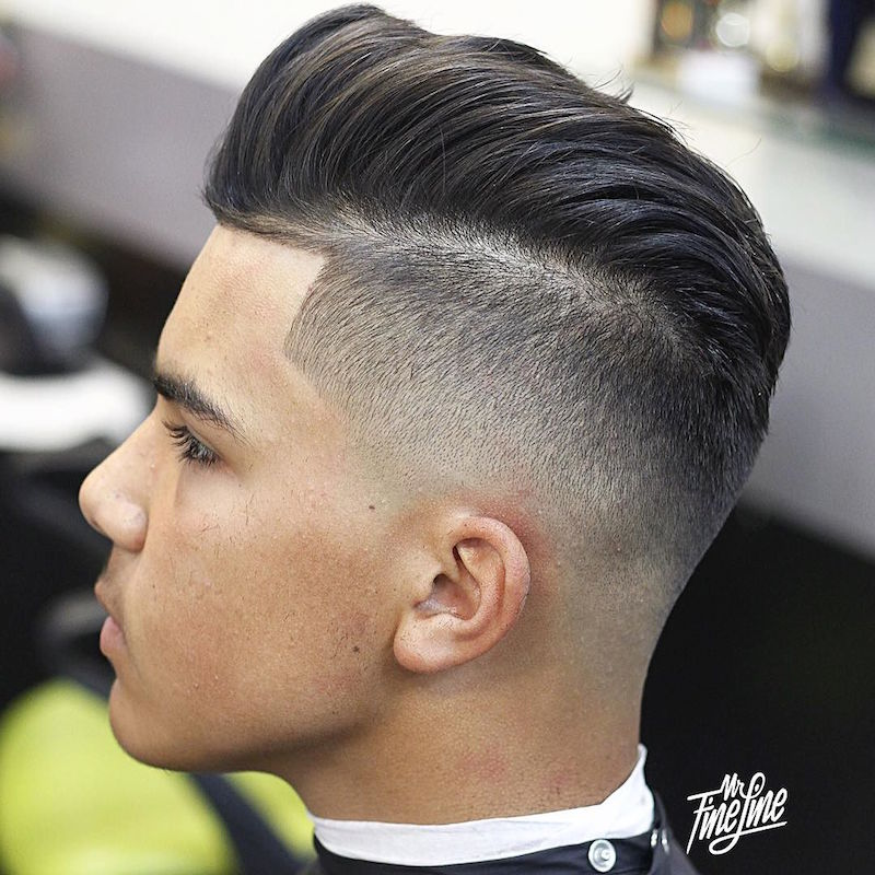 mr_fineline_and high skin fade pomadour