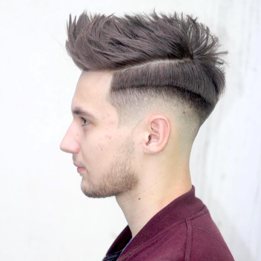 cool shadow fade and step haircut
