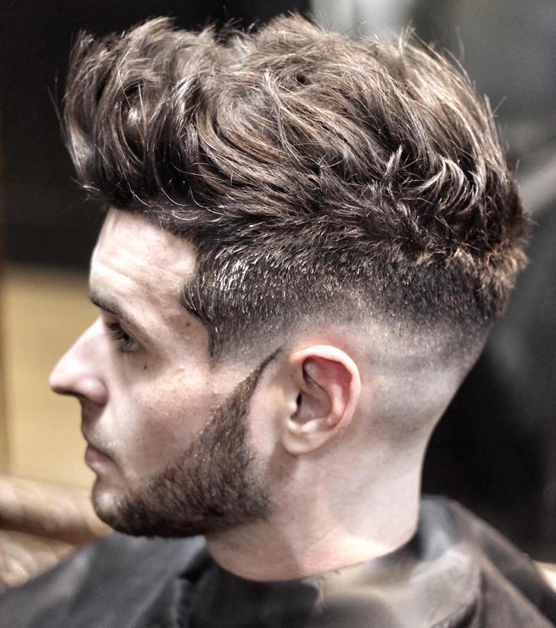 Hairstyles For Men With Thick Hair masculine mens hairstyle for short thick hair Ryancullenhair_and Skin Fade Haircut Textured Hair On Top