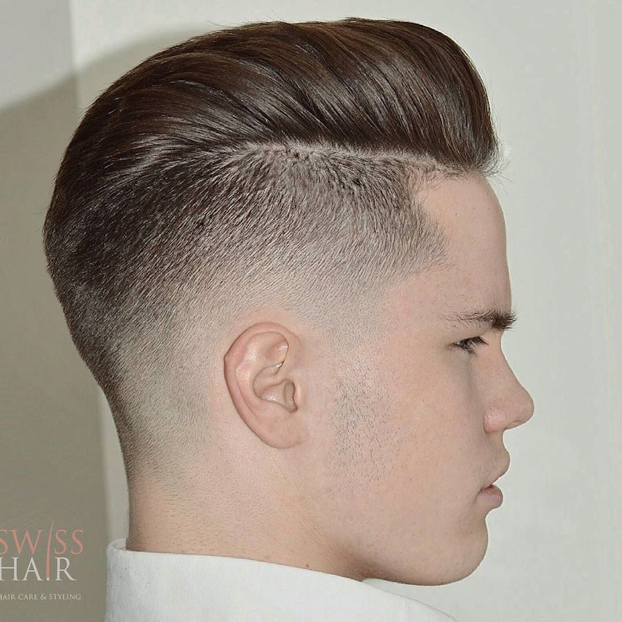 swisshairbyzainal_and high fade pompadour