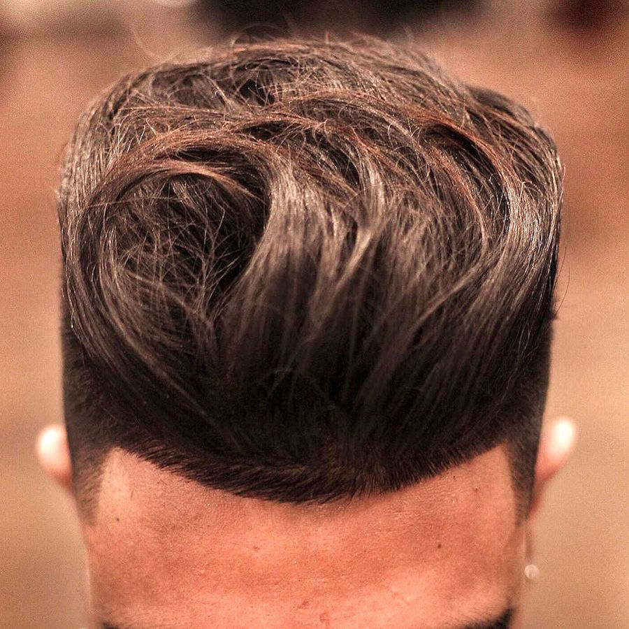 thegentlemanbarbers_and longer textures on top with high fade