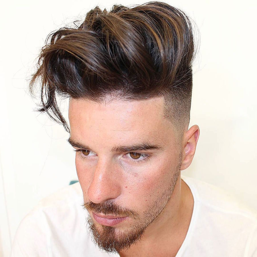 agusbarber__and long thick hair with natural texture and high fade