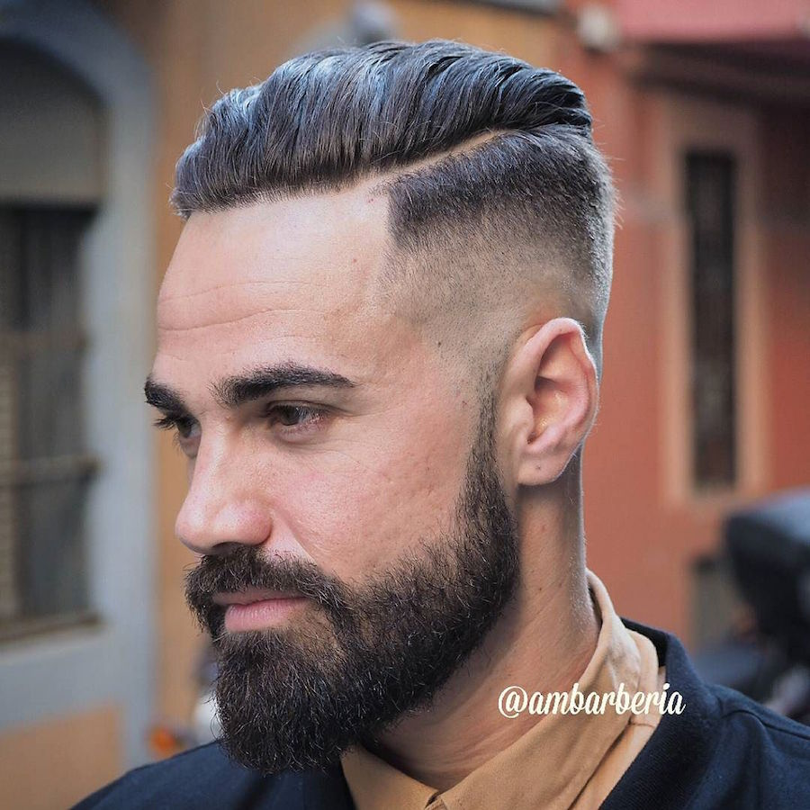 ambarberia_and high fade and slicked back hair hairstyle