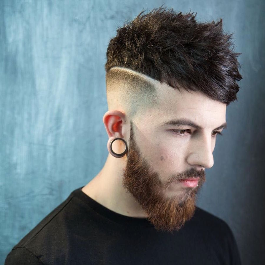 braidbarbers_and skin fade textured choppy crop with fringe swept to the side