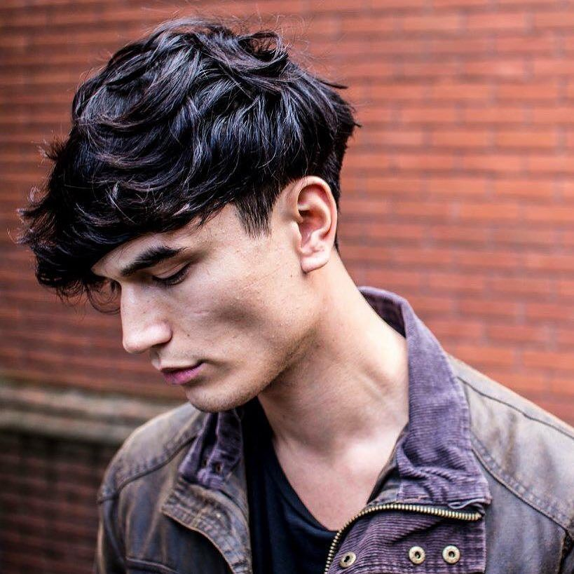 braidbarbers_and textured crop with heavy fringe scissor cut weight on sides back