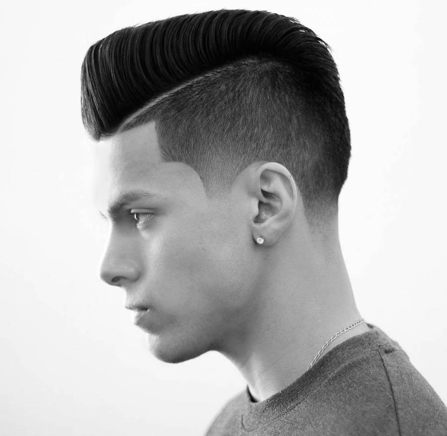 donnyblends_and super clean fade pompadour