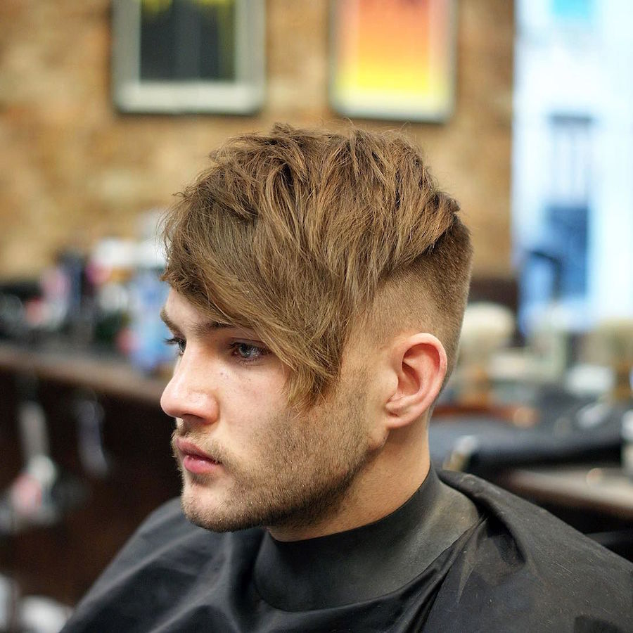 fraser_hardgrind_and texture and long fringe haircut men