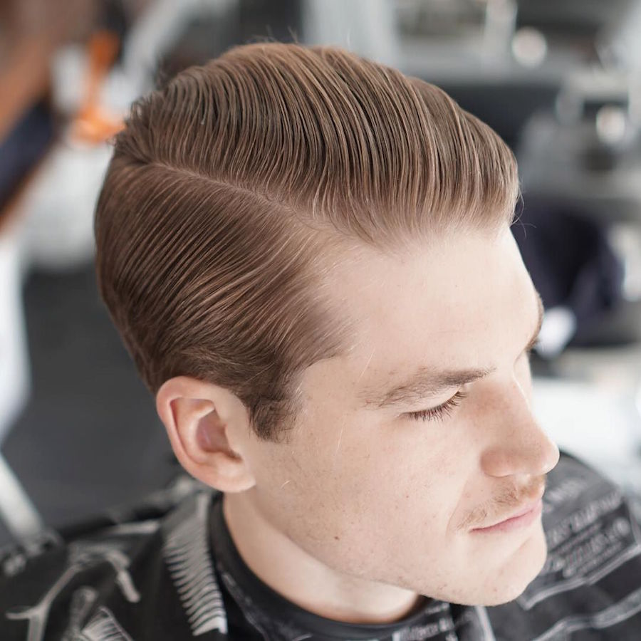 glassboxbarbershop_and classic slicked back hairstyle for men