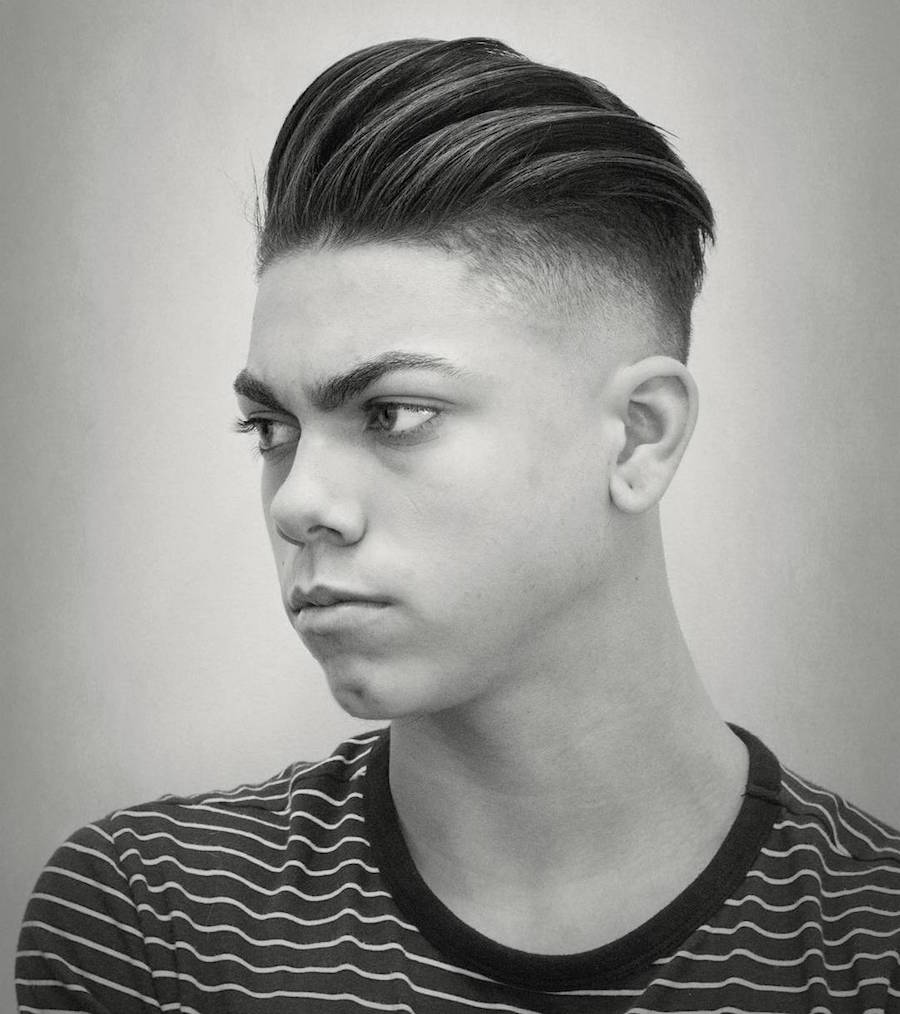 Slicked undercut hairstyle for men