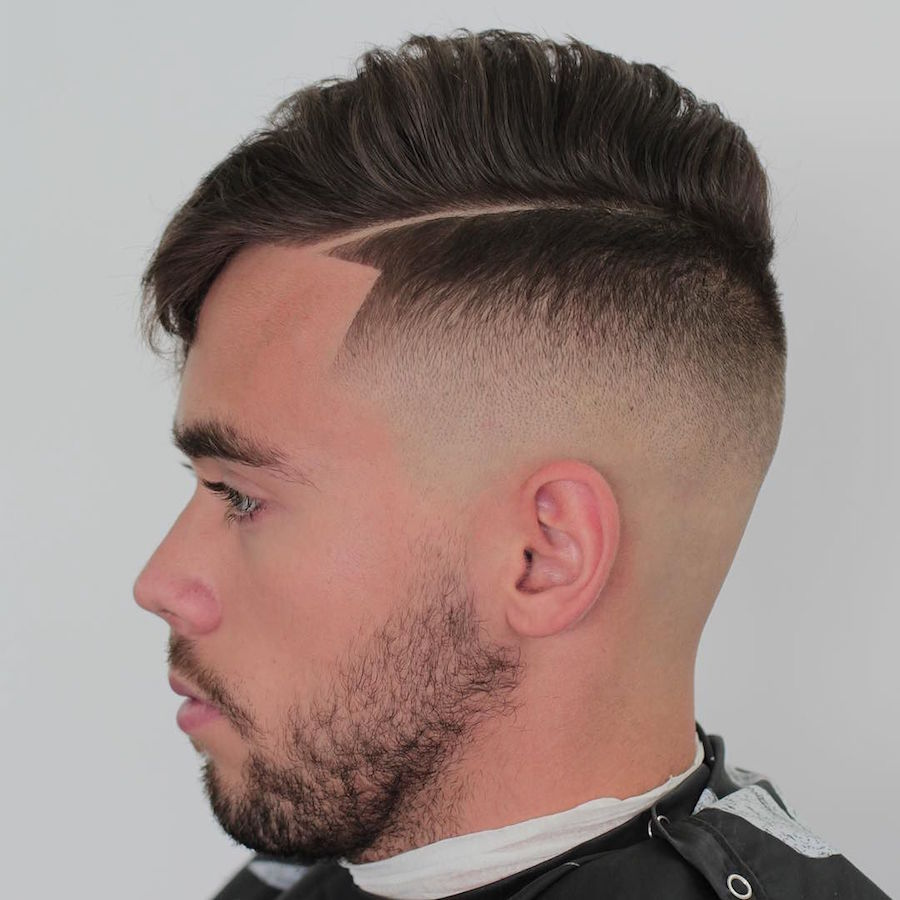 markthebarber_and nice bald fade fine hard part combover