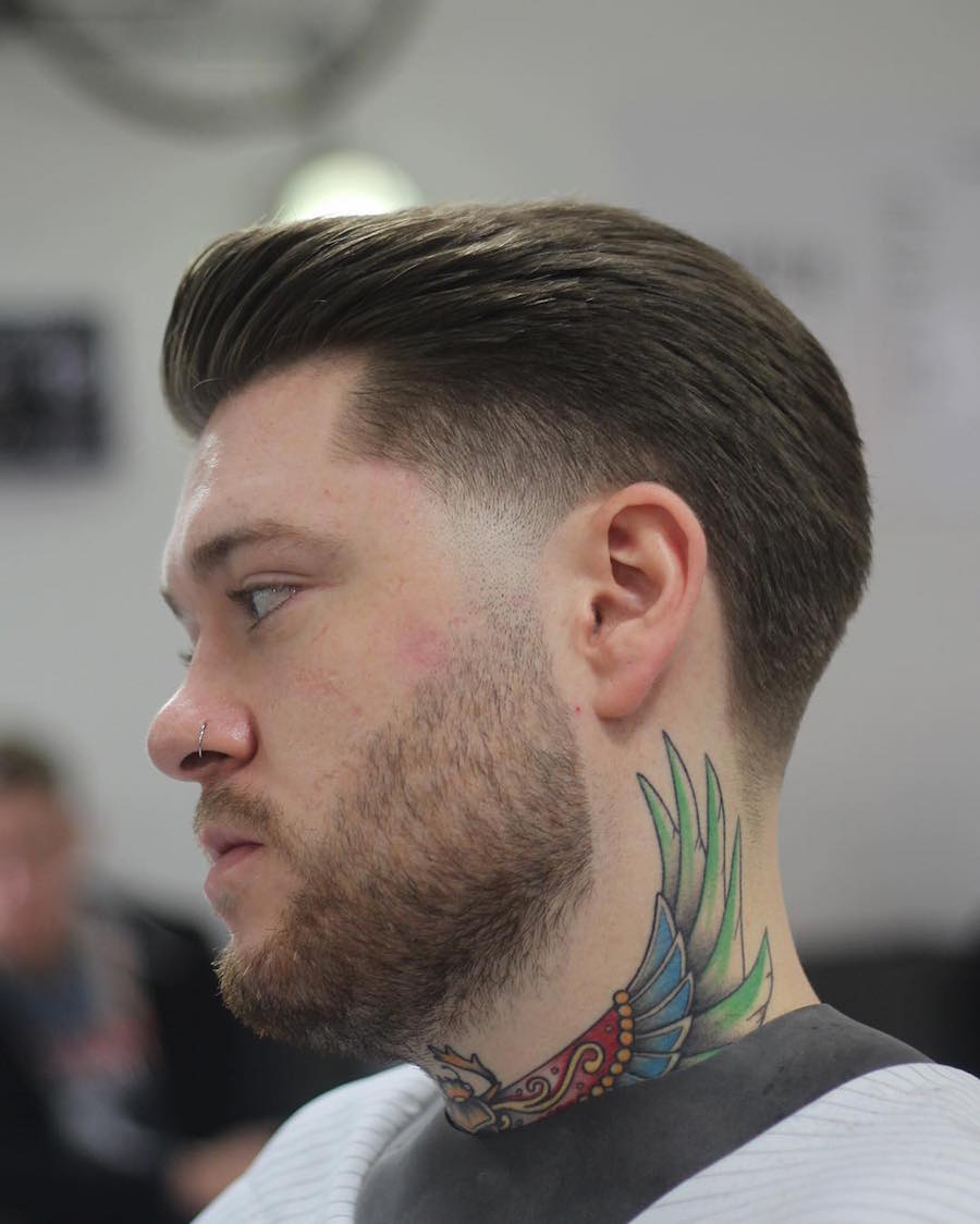 Men Short Hairstyles longer front exact sides and back short hairstyles men short hairstyle ideas Mozambeak_and Slicked Back Taper Fade