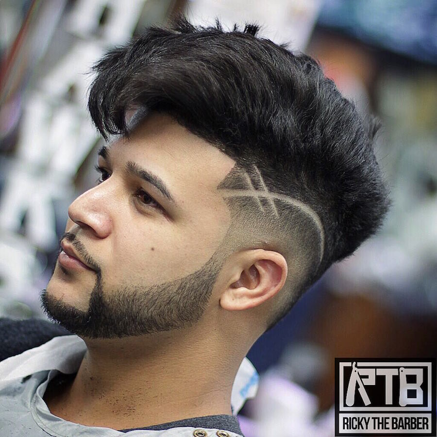 rickythebarber__and long thick hair on top and cool hair design. Haircut ...