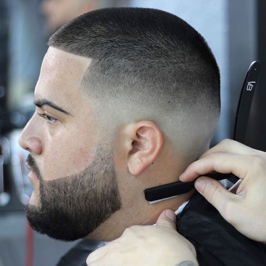 stevetrujillo_and short mens haircut super clean fade