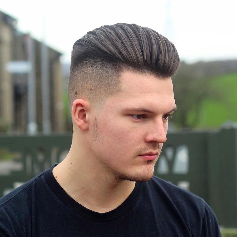 men's hairstyles alan_beak_and high fade combed and blown back new haircut