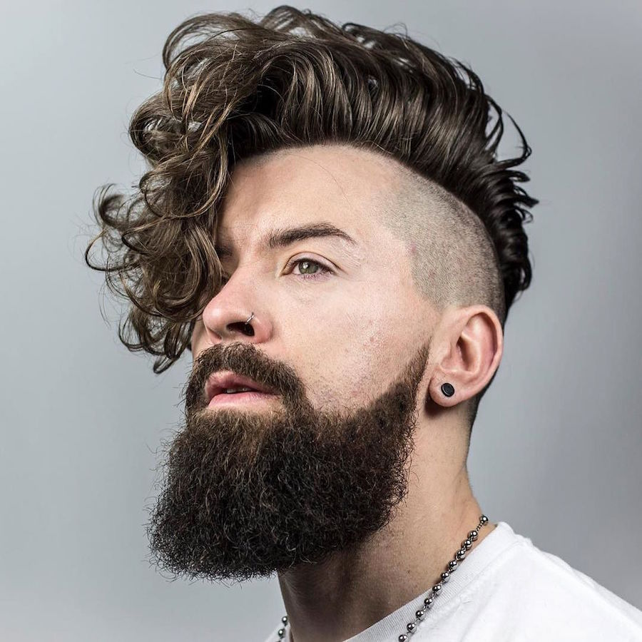 Braidbarbers_and Long Curly Hairstyle For Men Undercut