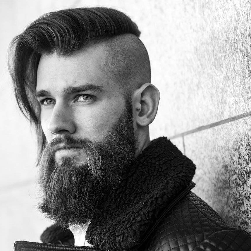 Long hairstyles for men with an undercut
