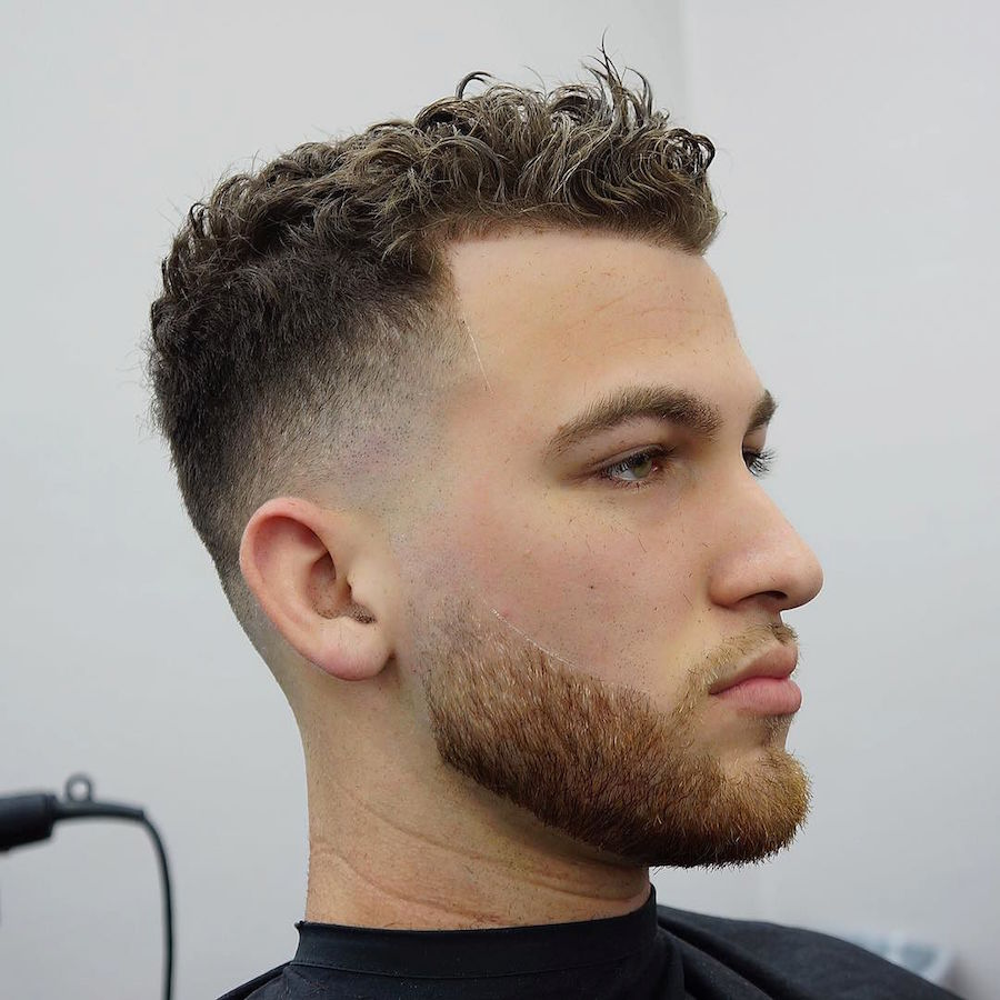 Curly Fade Haircut Men
