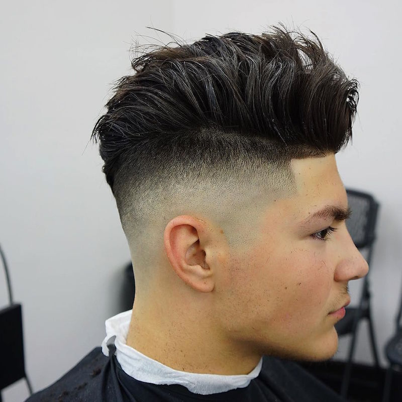 criztofferson_high skin fade and longer hair hairstyle for men