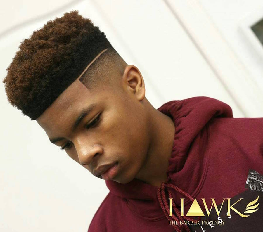 men's hairstyles dynasty_barbers_and clean bald fade hard part natural flat top mens popular haircuts