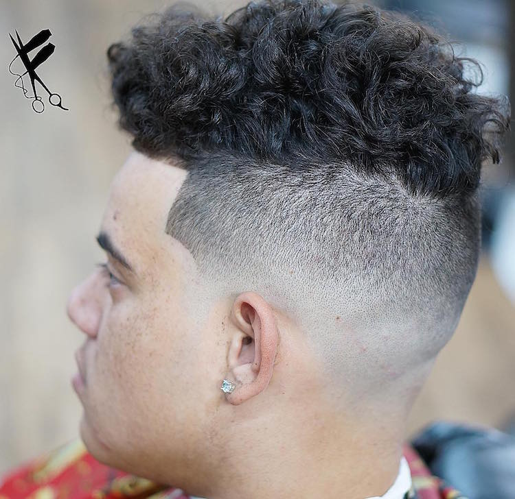 frankdabarber_and_tall curly hair men high skin fade male haircuts