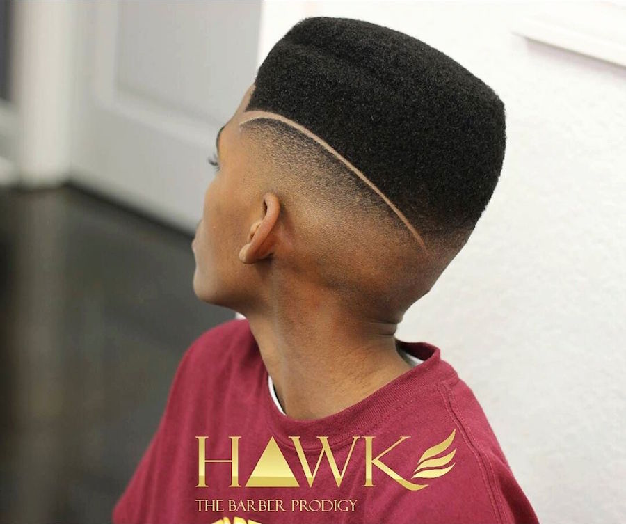 hawkthebarberprodigy_and surgical part bald fade rounded flat top haircut