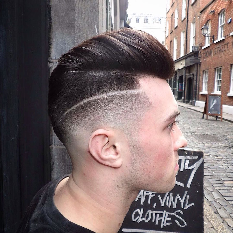 hayden_cassidy_and modern pompadour skin fades mens haircuts