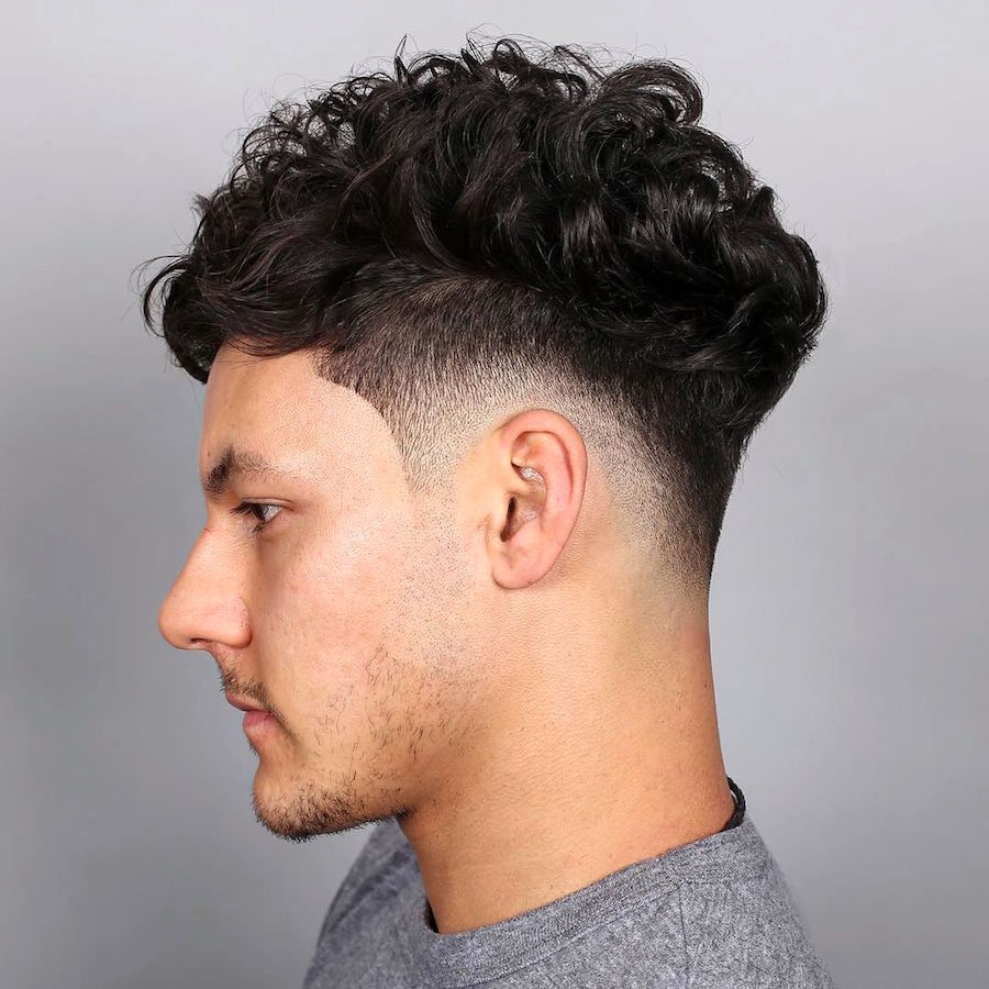 Wonderful Drop Fade + Curls On Top